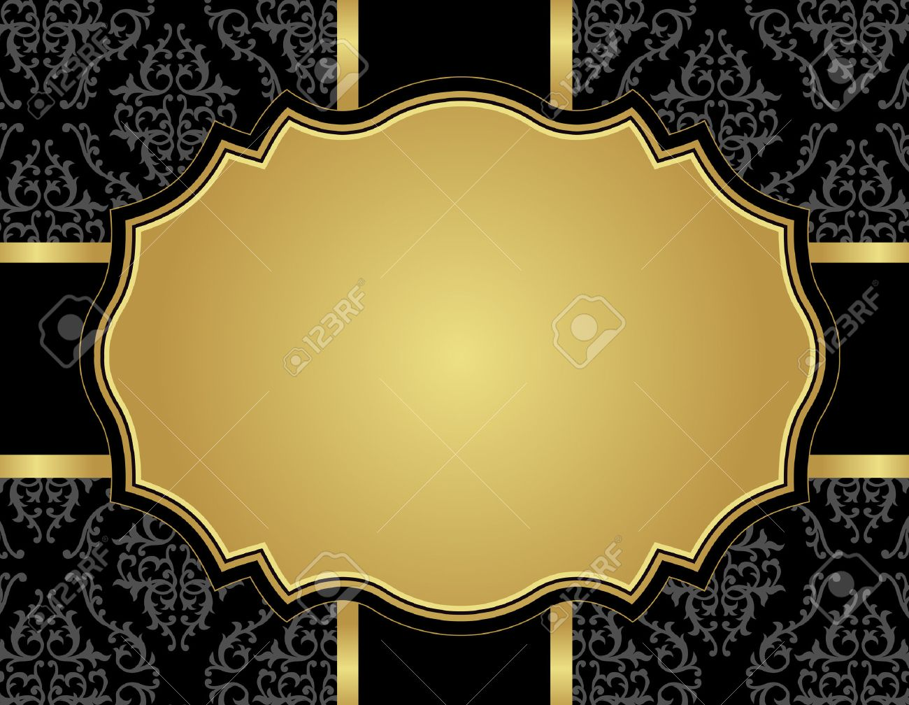 black and gold invitation background