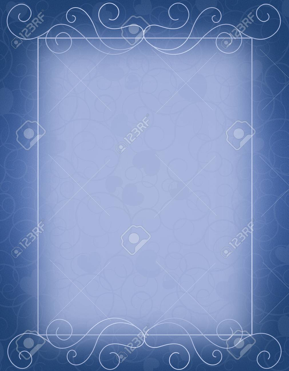 elegant blue empty background with ornamental frame perfect