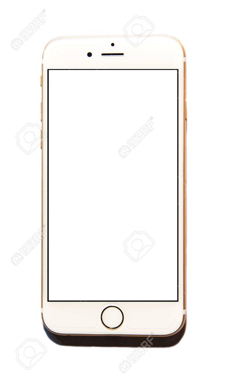 nouveau apple iphone 6 isole avec ecran blanc