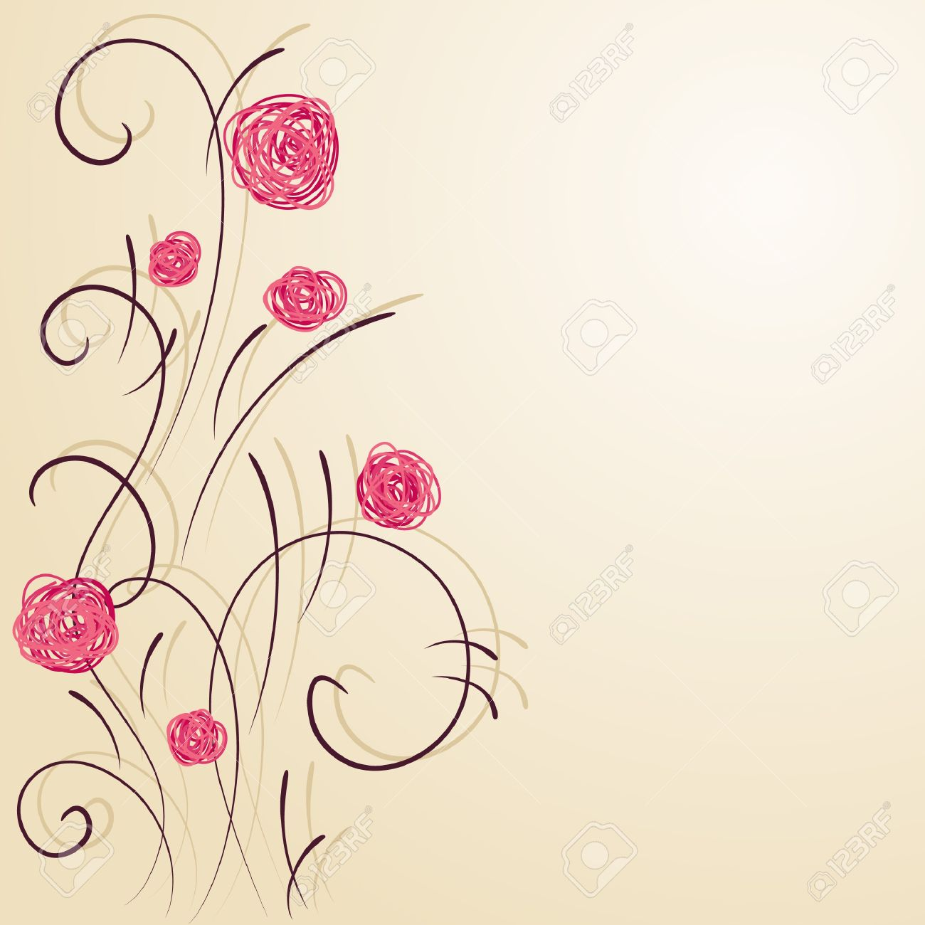 Floral Vector Wallpaper Royalty Free Cliparts Vectors And Stock Illustration Image 9491334
