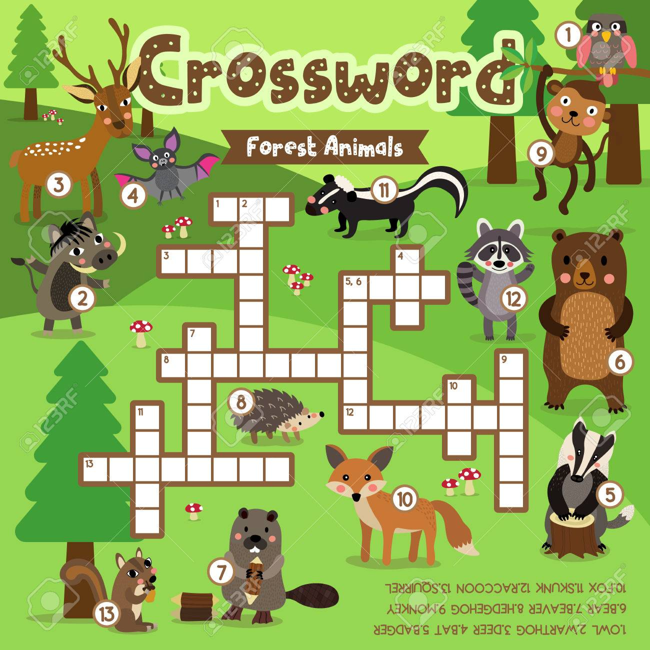 Wildlife Crossword Puzzle Printable Crossword Puzzle Gallery | Jymba ...