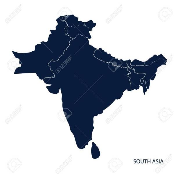 Map Of South Asia  Royalty Free Cliparts  Vectors  And Stock     Map of South Asia  Stock Vector   66393868