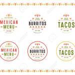 Conjunto De Etiqueta Logo E Insignia Para Restaurante Mexicano Impresion A Color Sobre Fondo Blanco Ilustraciones Vectoriales Clip Art Vectorizado Libre De Derechos Image 93448783