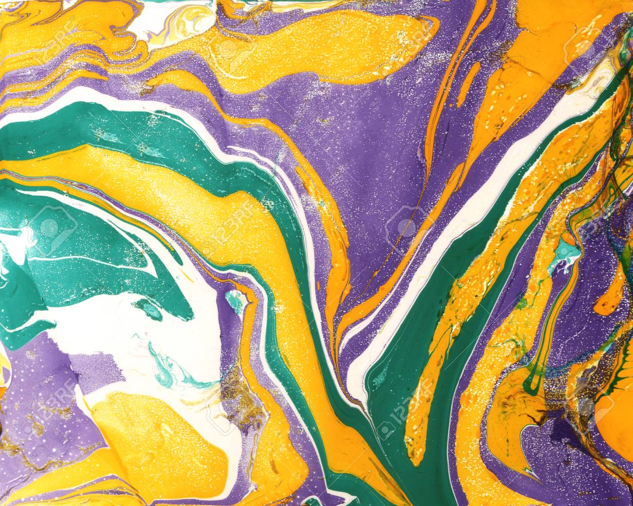 Abstract Marble Painting Background In Modern Art Style Bright