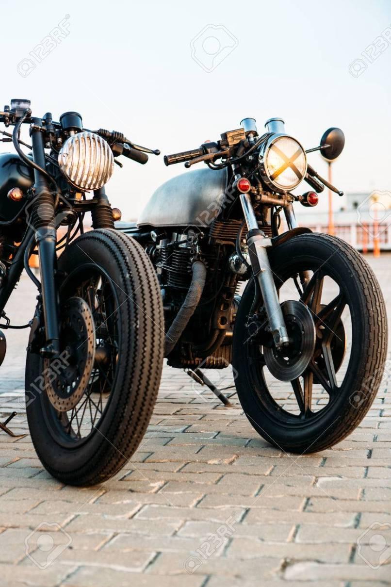 Two Vintage Custom Motorcycle Cafe