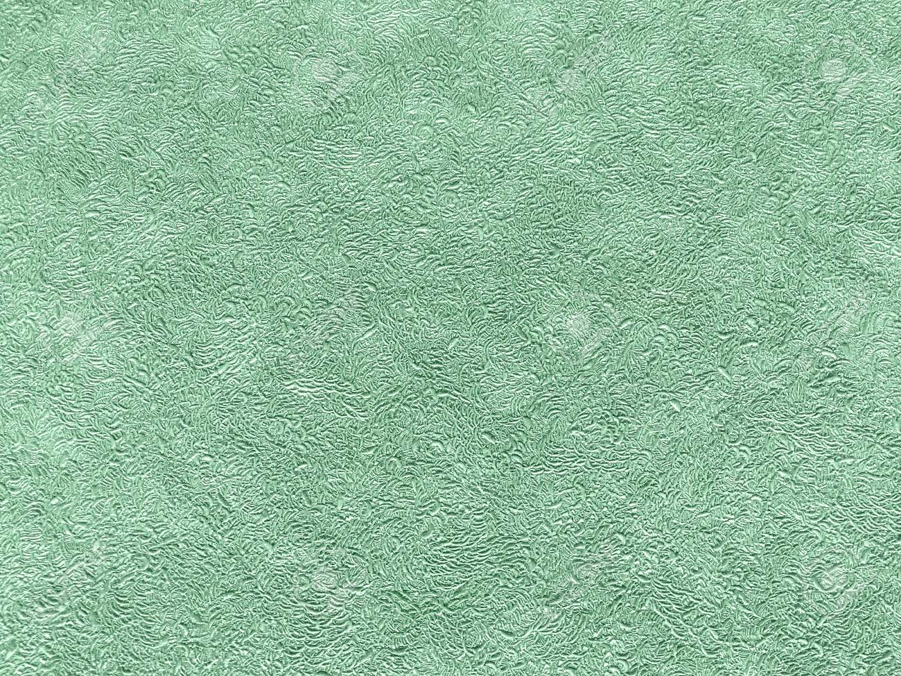 Texture Of Light Green Wallpaper With A Curly Pattern Cyan Paper Stock Photo Picture And Royalty Free Image Image 93136637