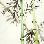 Chinese Painted Green Bamboo Trees Stock Photo Picture And Royalty Free Image Image 112957815