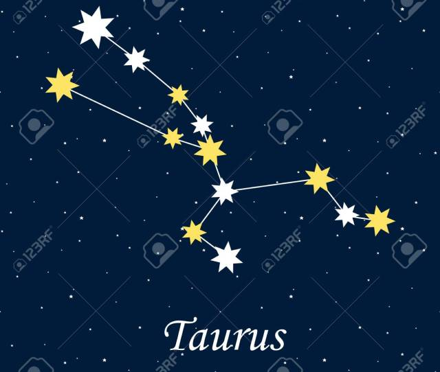 Constellation Taurus Zodiac Horoscope Astrology Stars Night Vector Illustration Stock Vector