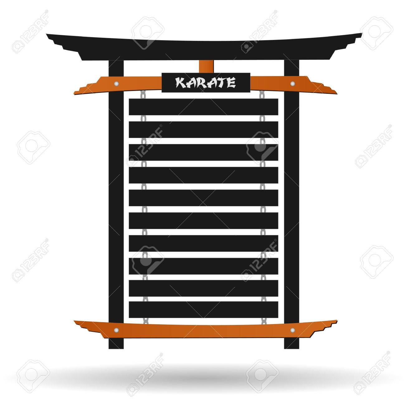 image of a karate belt rack isolated on a white background royalty free cliparts vectors and stock illustration image 26168754