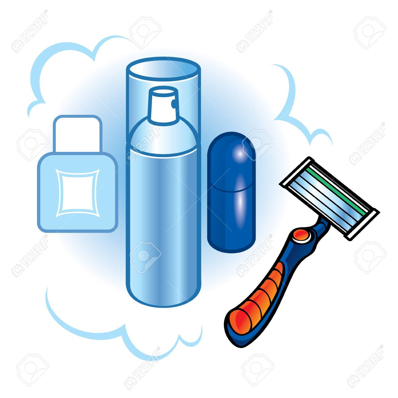 Image result for shave face clipart