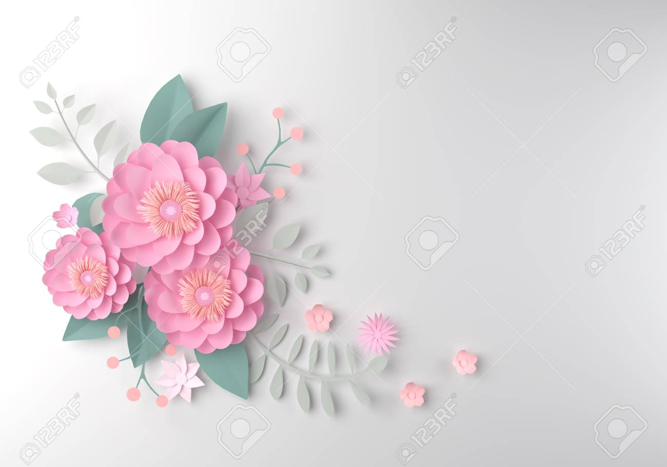 Color Paper Flower Wallpaper Background Abstract Floral Background Stock Photo Picture And Royalty Free Image Image 87636451