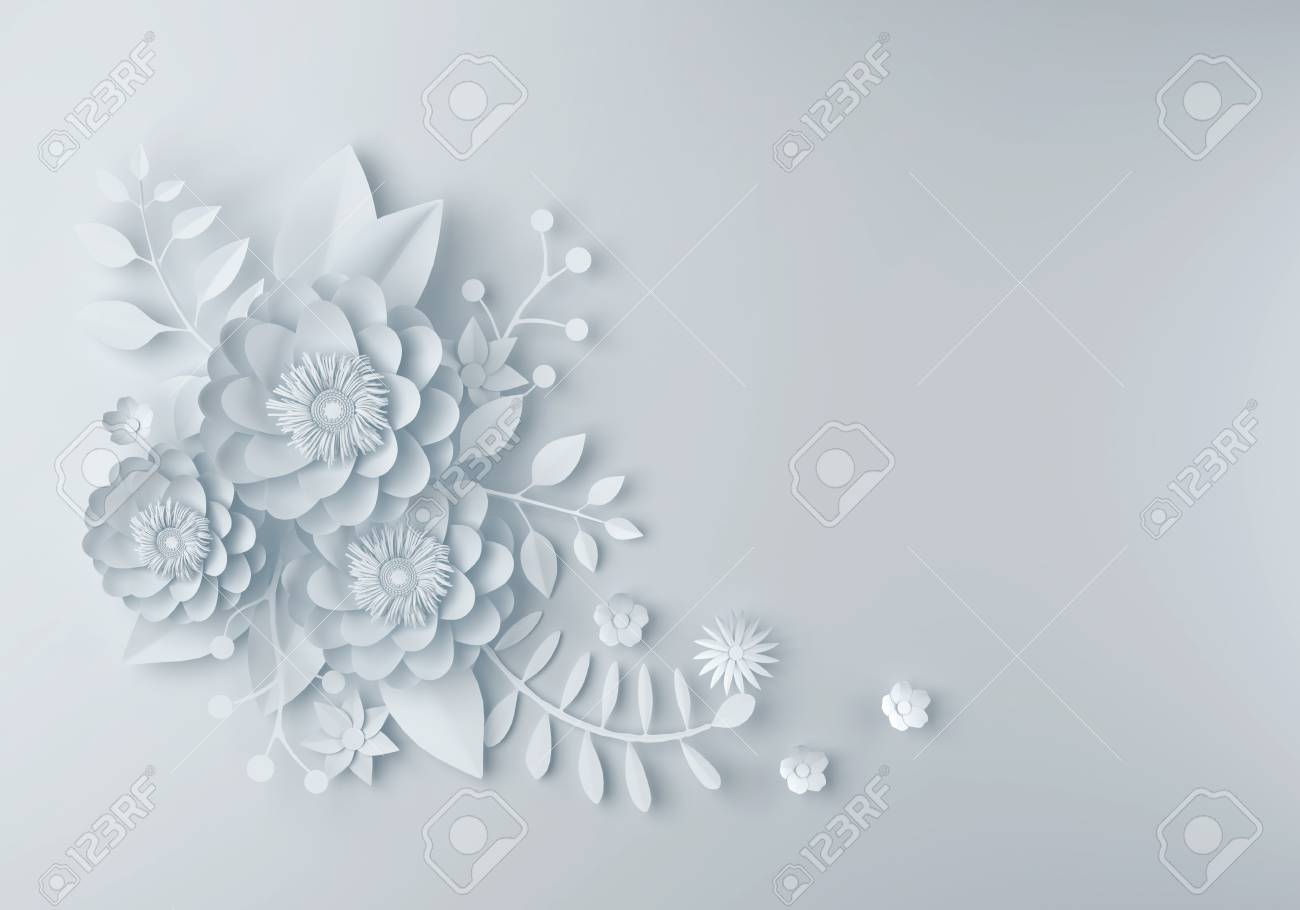 White Paper Flower Wallpaper Background Abstract Floral Background Stock Photo Picture And Royalty Free Image Image 87406073