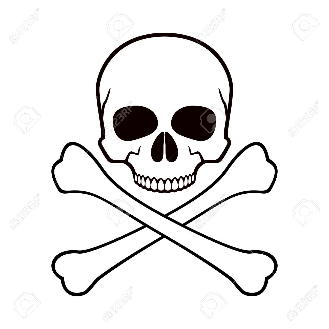 Human Skull Crossbones Symbol Of Danger Abstract Concept Royalty Free Cliparts Vectors And Stock Illustration Image 135459751