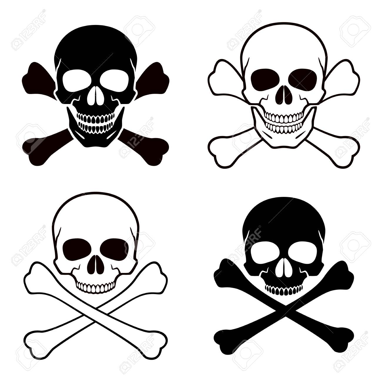 Human Skull Crossbones Symbol Of Danger Abstract Concept Royalty Free Cliparts Vectors And Stock Illustration Image 135460511