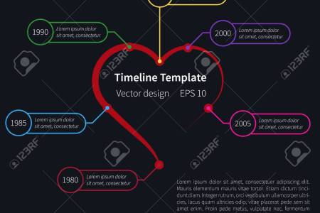 timeline template      Best Templates Ideas   Best Templates Ideas Timeline Template On Dark Background With Heart Shape Royalty Free timeline  template on dark background with
