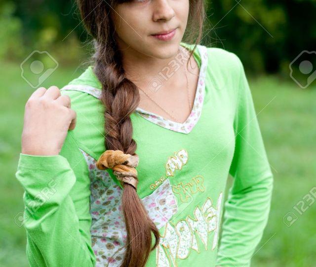 Stock Photo Teen Girl On Nature