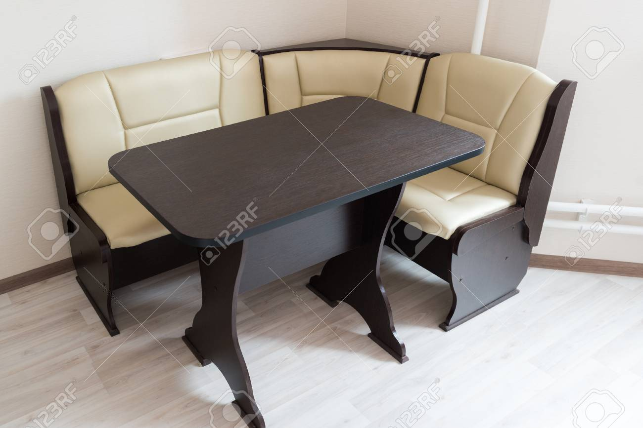 Kitchen Corner Sofa And Table In The Interior Stock Photo Picture And Royalty Free Image Image 77904816