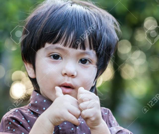 Portrait Of Asian Thai Cute Little Boy Stock Photo 42855104