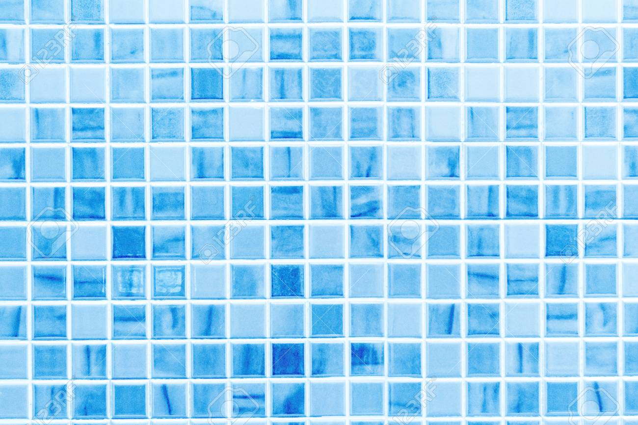 blue ceramic tile wall texture ideal for a background and used