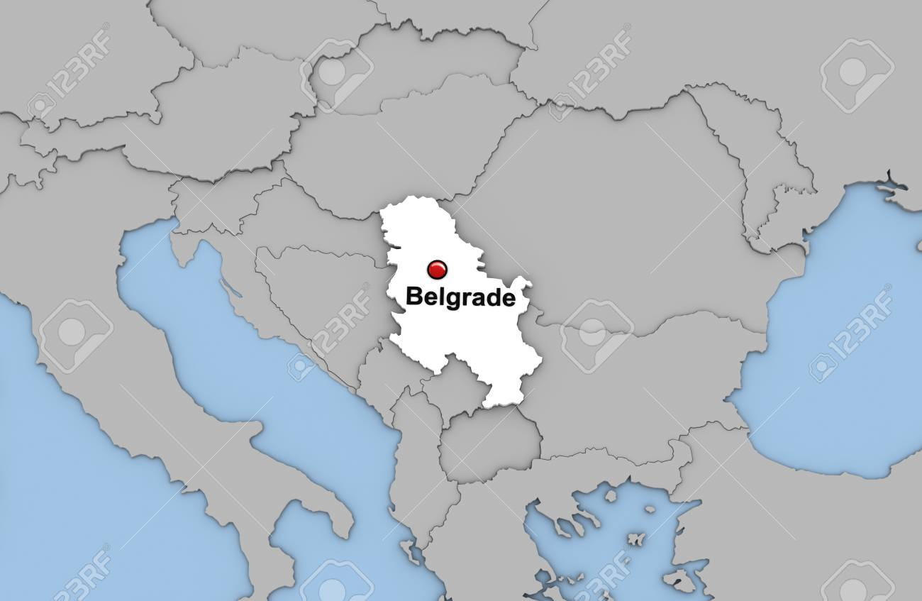World Map Serbia and Montenegro Location