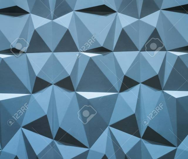 Abstract Wallpaper Or Geometrical Background Consisting Of Blue Geometric Shapes Triangles And Polygons Stock