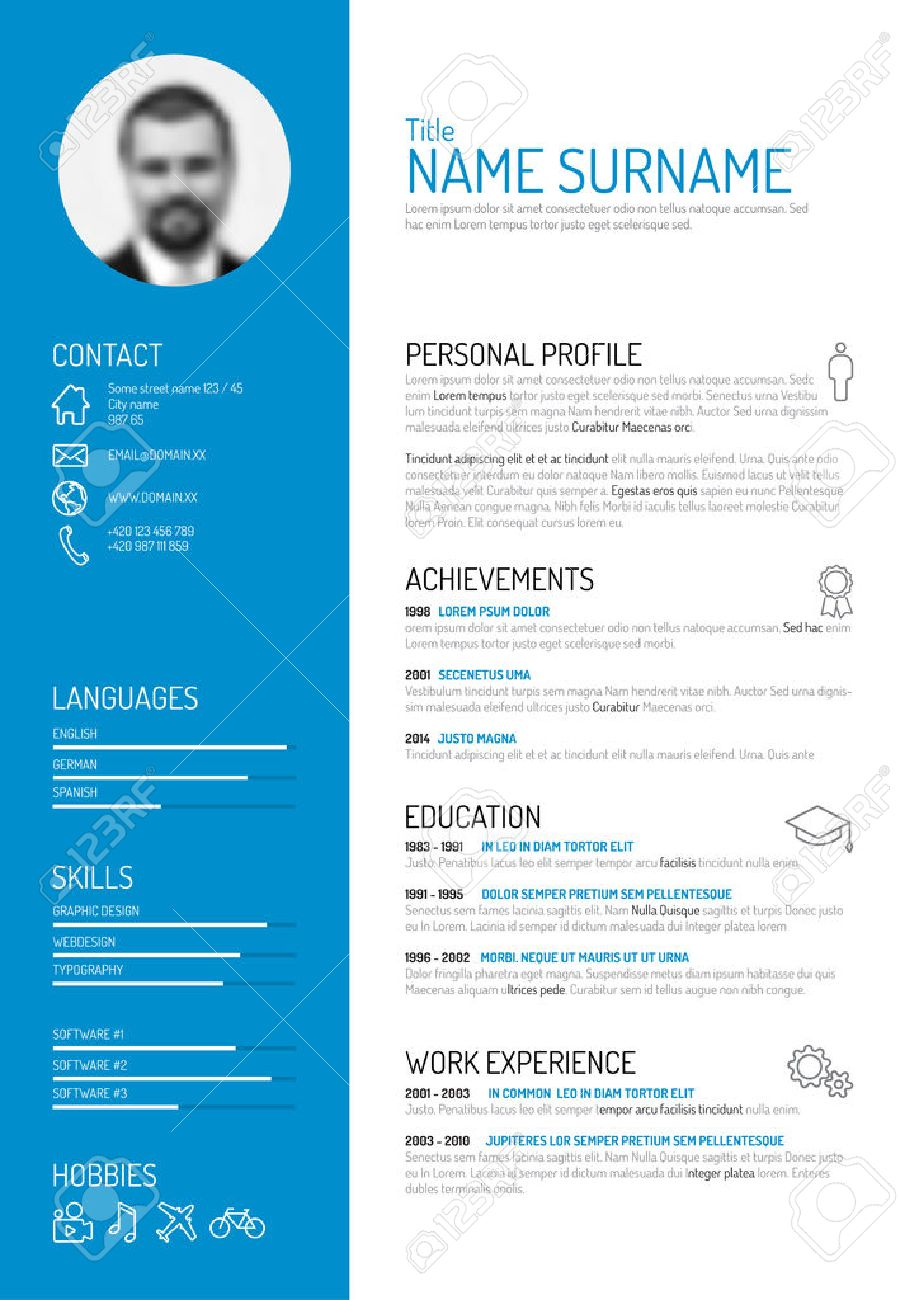 cv resume template stock photos newsound co