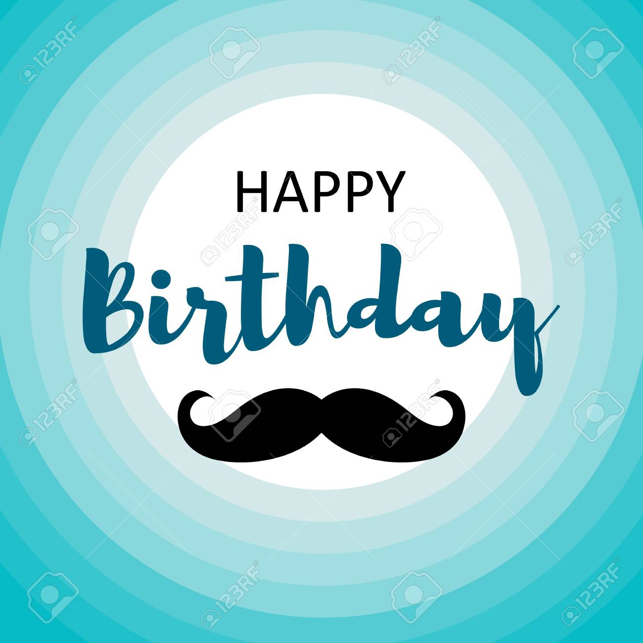 Happy Birthday Card For Men Template Design Royalty Free Cliparts Vectors And Stock Illustration Image 99663003