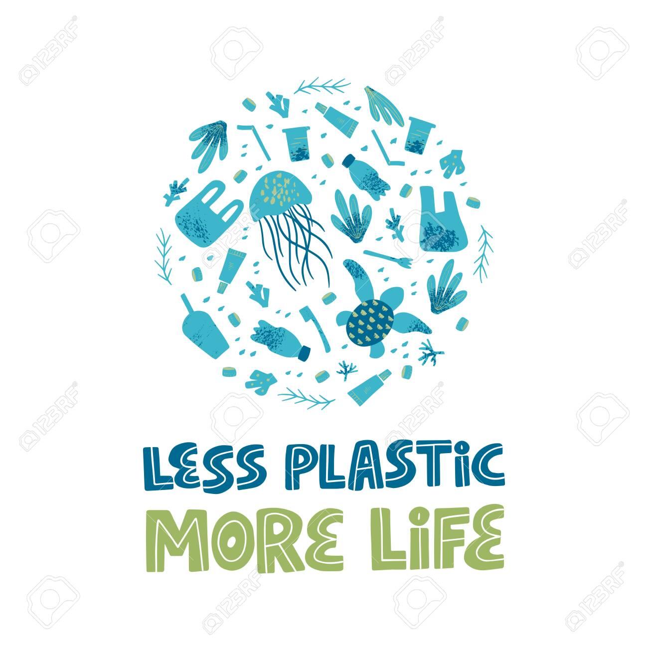 zero waste and plastic free lifestyle slogan waste contamination