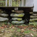 Three Stacked Stone House Foundation Piers On An Old Appalachian Stock Photo Picture And Royalty Free Image Image 90455160