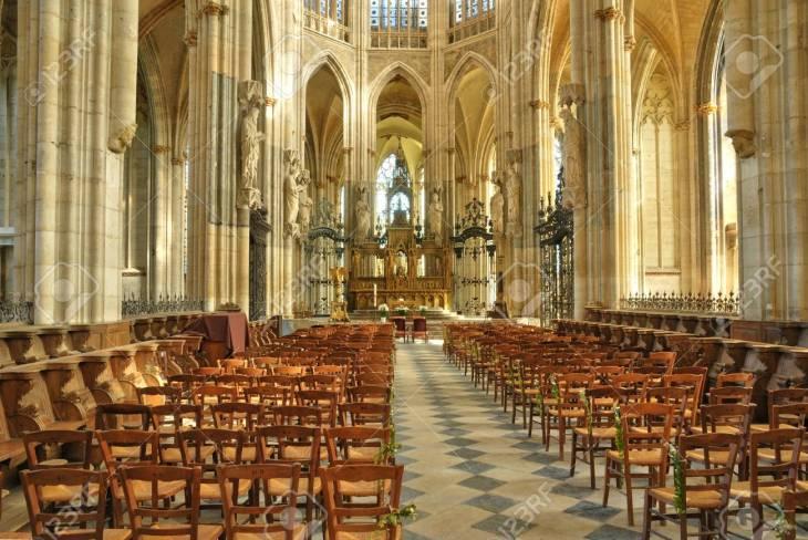 Francia, De La Abadía De La Iglesia Saint-Ouen De Rouen, En Seine ...