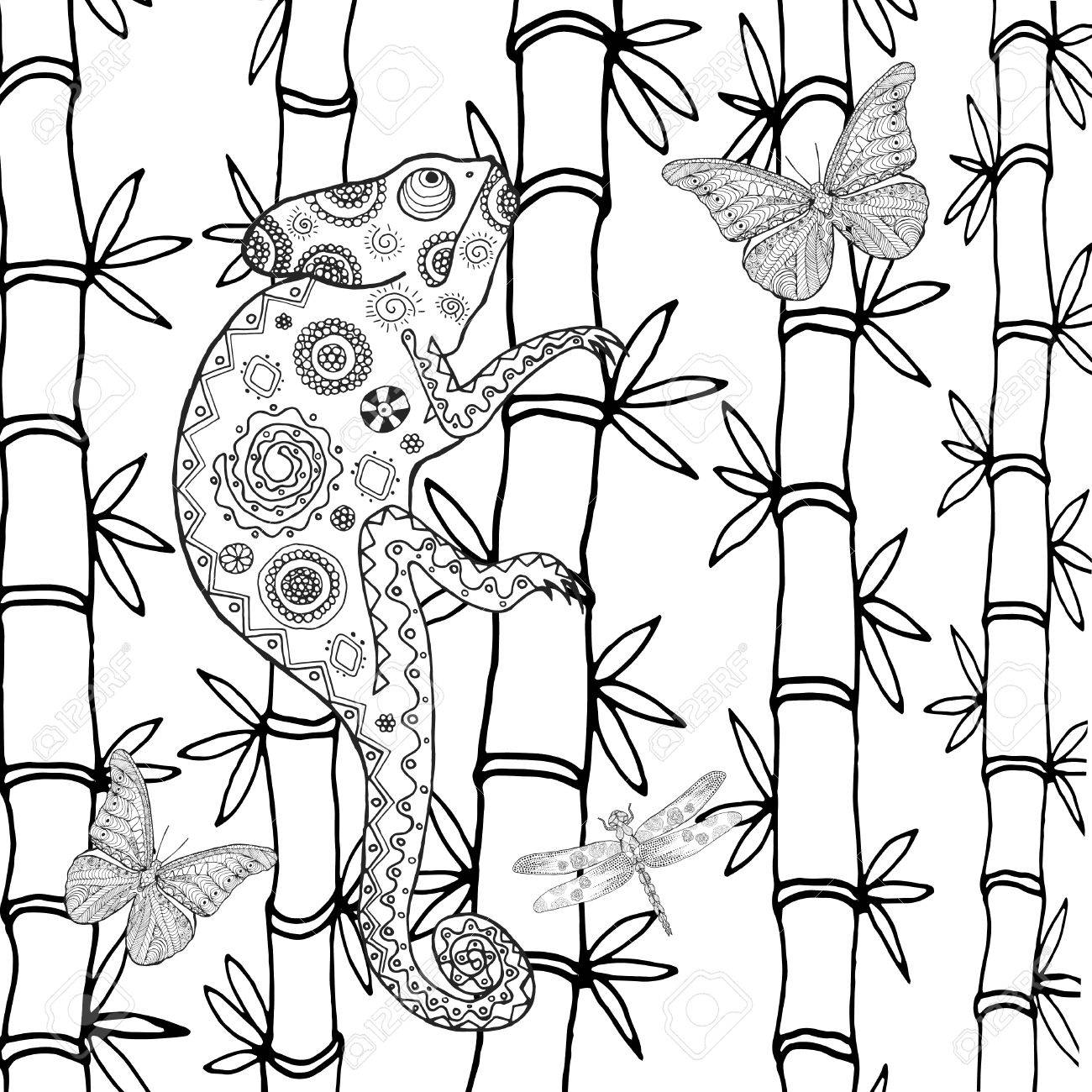 Chameleon Coloring Page Free Coloring Pages Download | Xsibe gecko ...