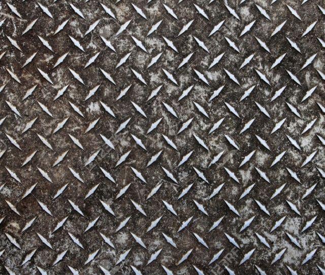 Dirty Worn Old Aluminum Diamond Plate Non Skid Surface Background Stock Photo 8161242