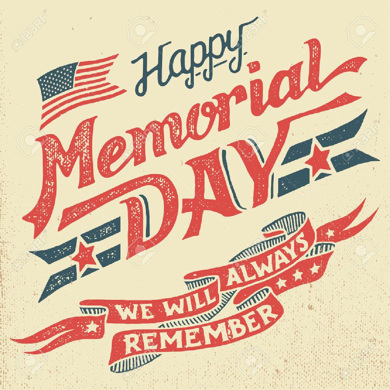 glücklicher memorial day. wir werden uns immer erinnern. hand