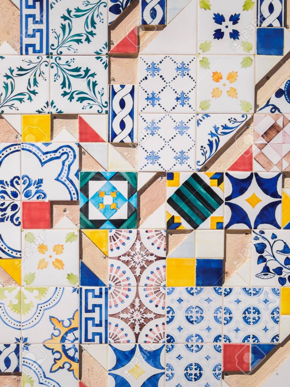 ceramic azulejos portuguese tile wall art of old city