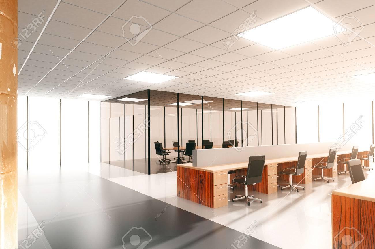 grand bureau ensoleille moderne
