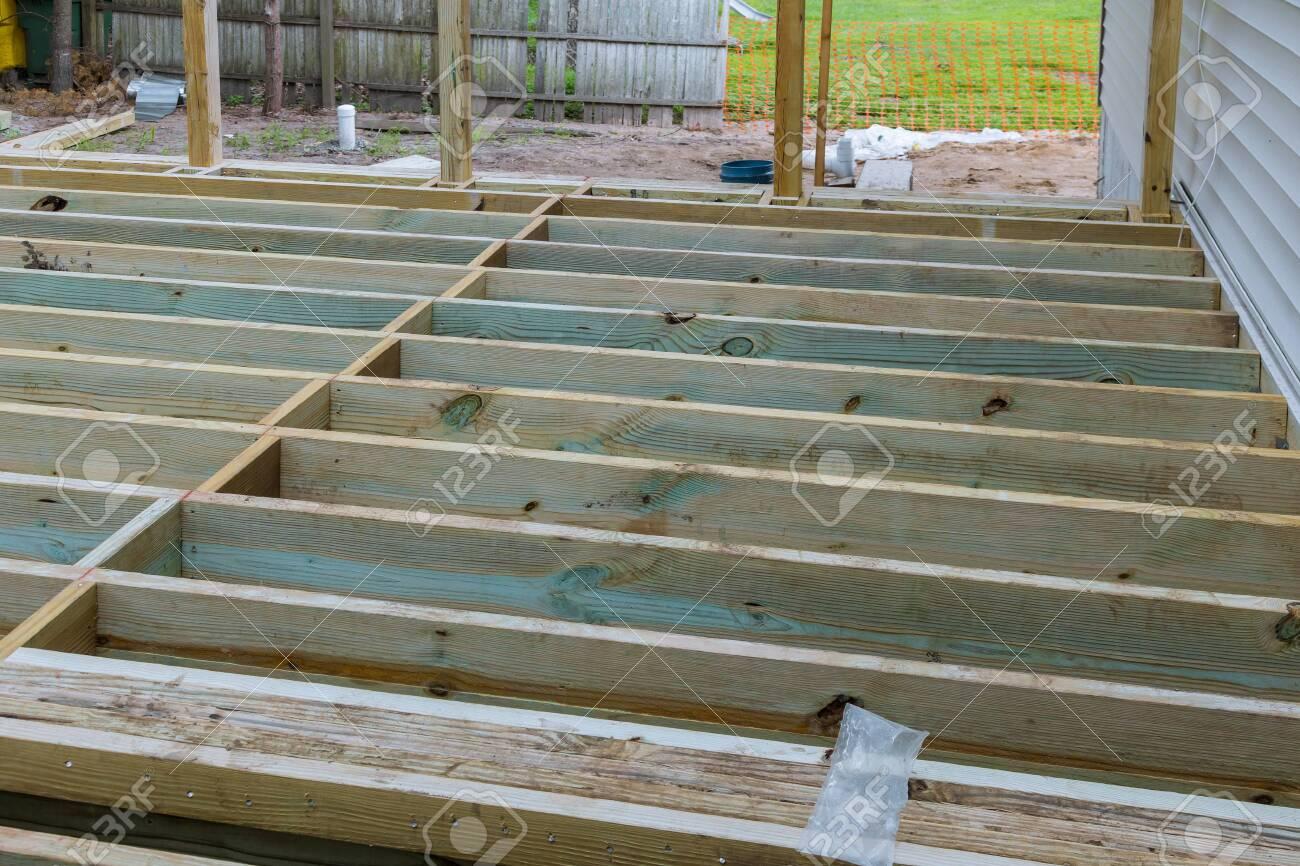 new deck patio with modern wooden deck installing wood floor