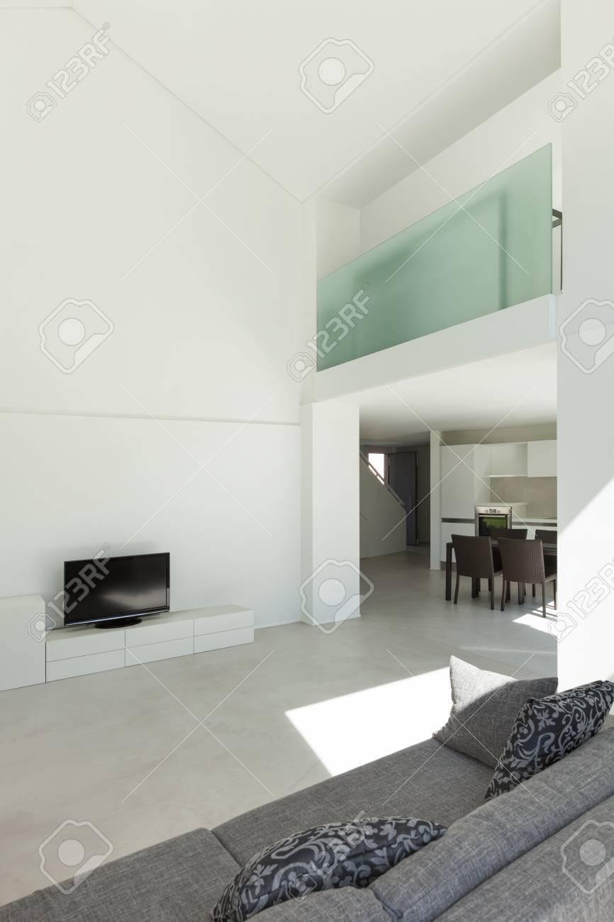 architecture interieur maison moderne salon avec canape banque d images et photos libres de droits image 43786465
