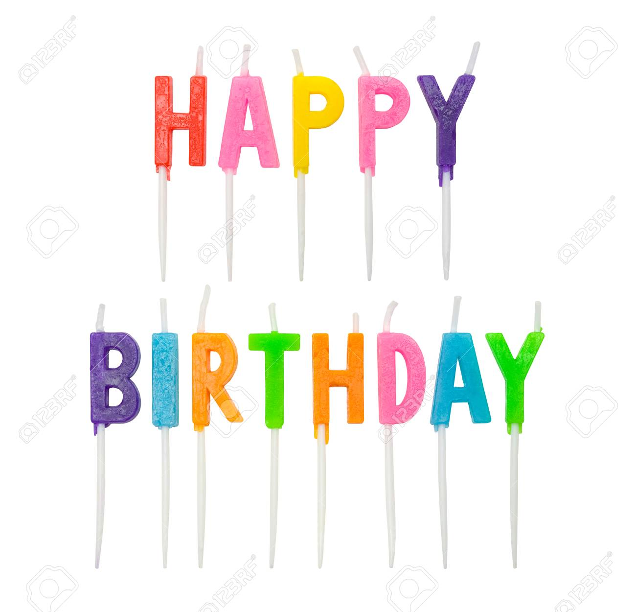 Candles That Spell Out Happy Birthday Cut Out Stock Photo Picture And Royalty Free Image Image 76478552