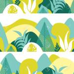 Seamless Pattern Mountain Hilly Landscape With Tropical Plants Royalty Free Cliparts Vectors And Stock Illustration Image 114679667