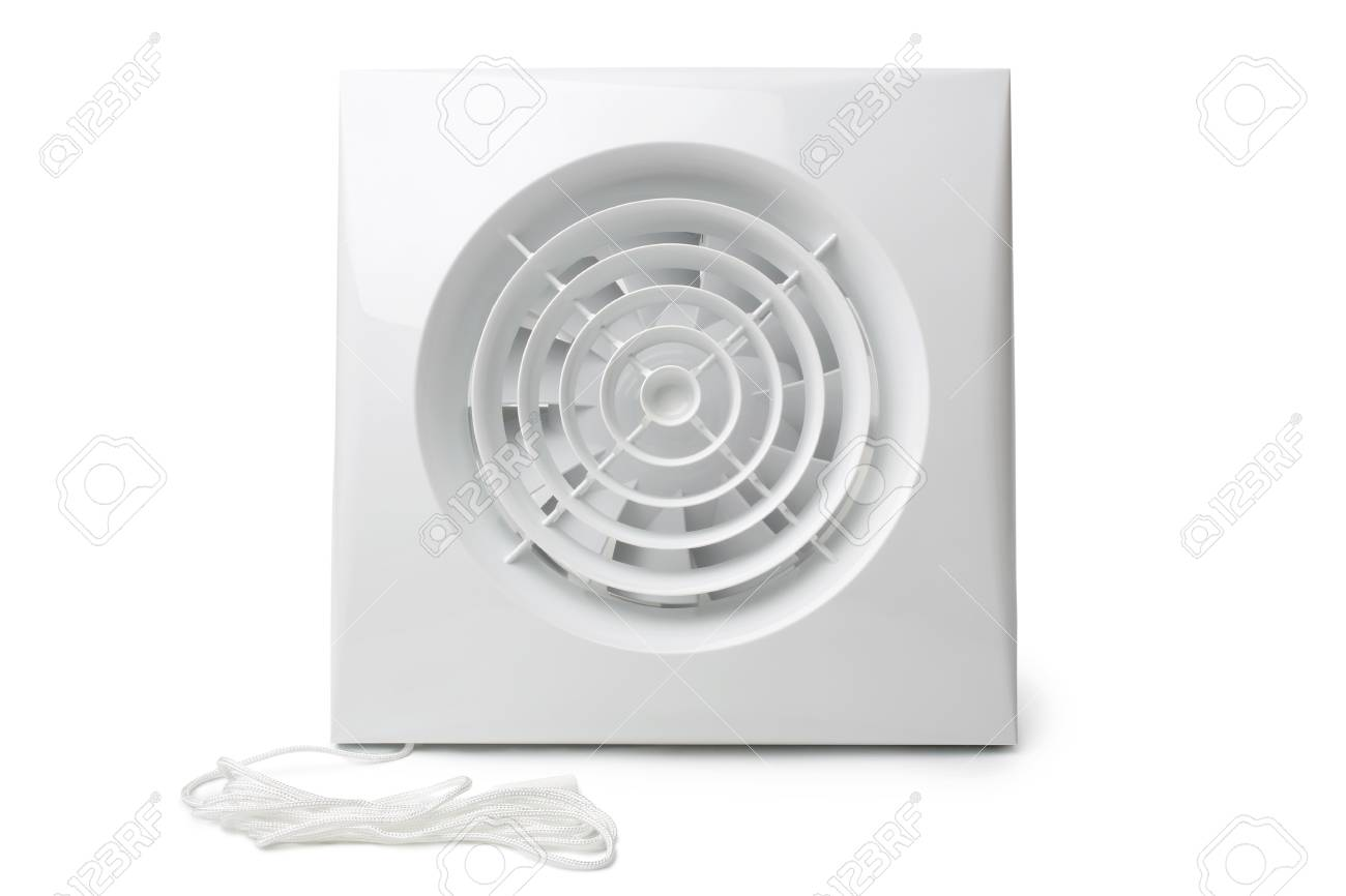 small ventilating exhaust extractor fan on white background