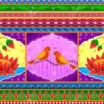 Floral Kitsch Background In Indian Truck Art Style Royalty Free Cliparts Vectors And Stock Illustration Image 80568142