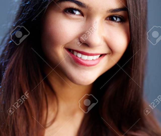 Portrait Of Teenage Girl With Long Brown Hair Stock Photo 10882279