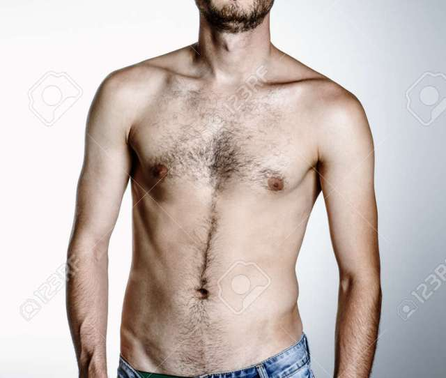 Portrait Of A Brutal Handsome Man With Naked Torso Male Beauty