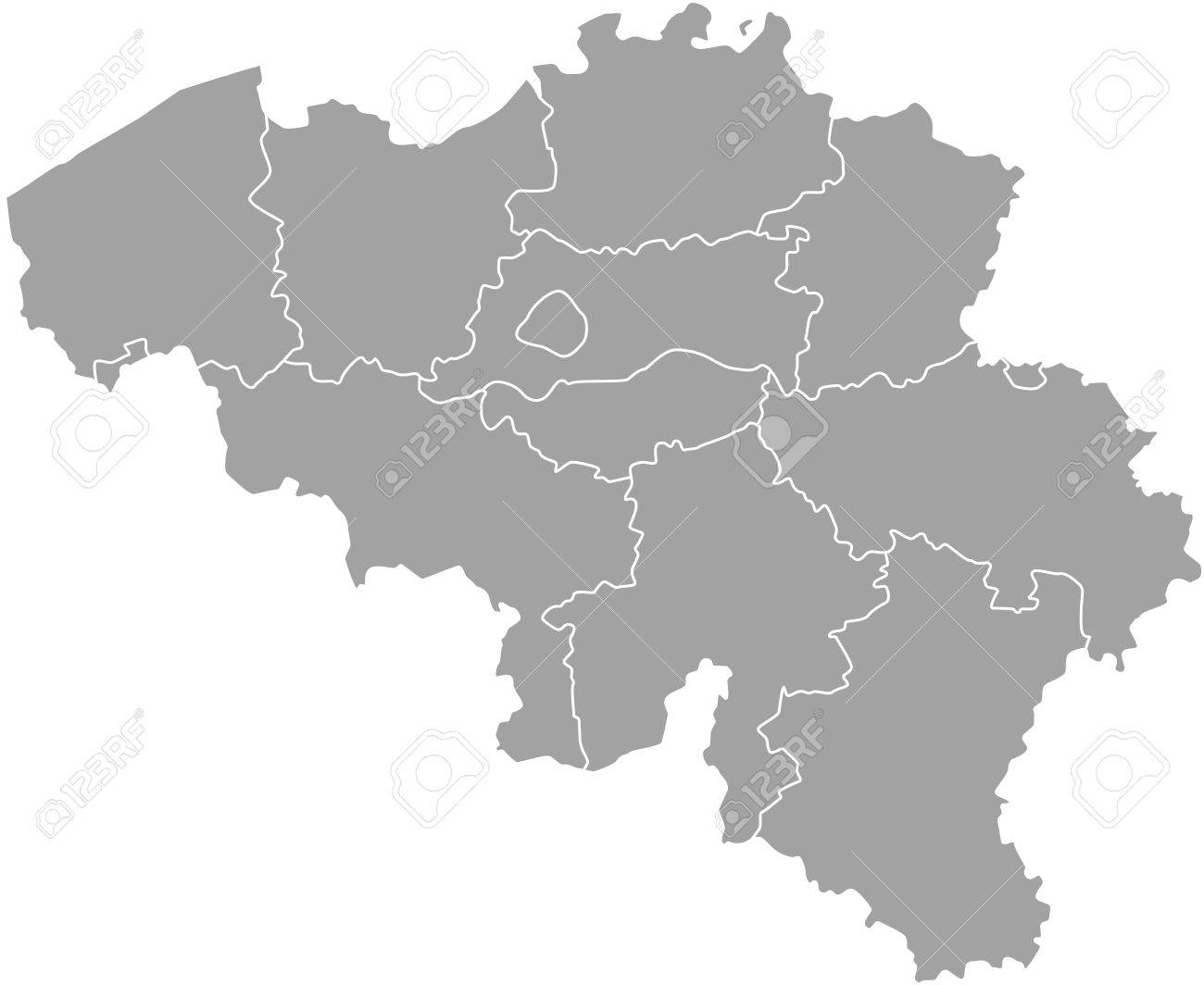 Belgium Map Outline With Borders Of Provinces Or States Royalty Free     Belgium map outline with borders of provinces or states Stock Vector    50920094