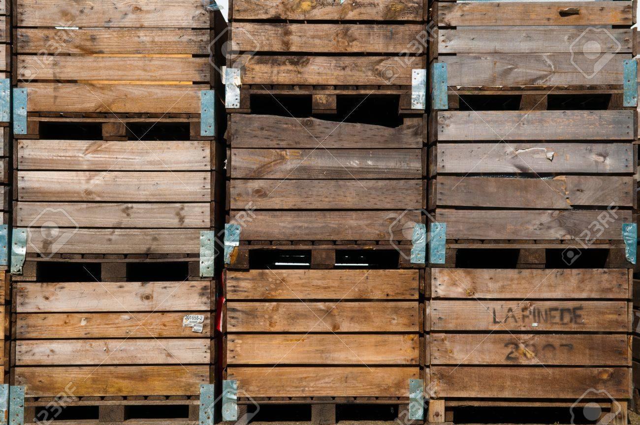 fond la caisse en bois utilise pour le stockage de pommes de terre