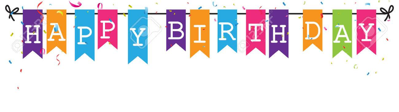 Bunting Flags Banner With Happy Birthday Letter Royalty Free Cliparts Vectors And Stock Illustration Image 54340665