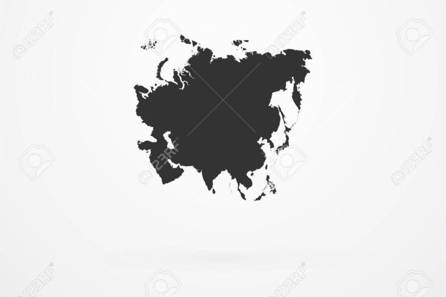 Asia Continent Map Royalty Free Cliparts  Vectors  And Stock     Asia Continent Map Stock Vector   36583870