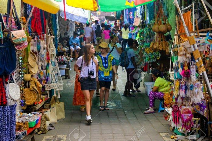 Ubud Bali Indonesia July 2019 Tourists Shopping At Ubud Market Stock Photo Picture And Royalty Free Image Image 128989082