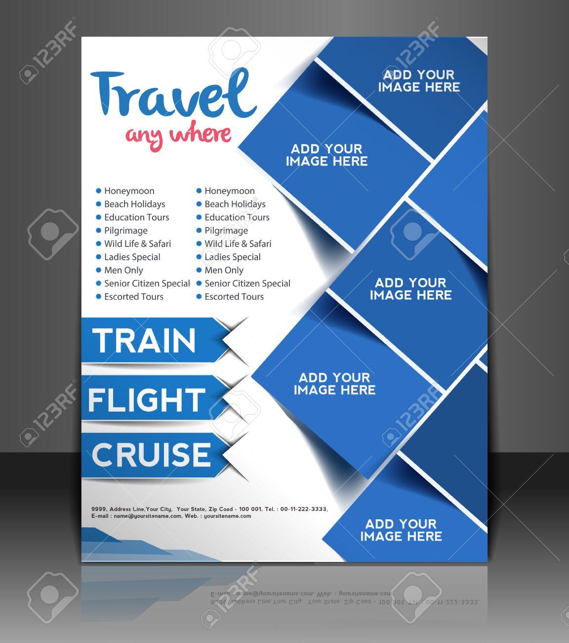 Travel Center Flyer Poster Template Design