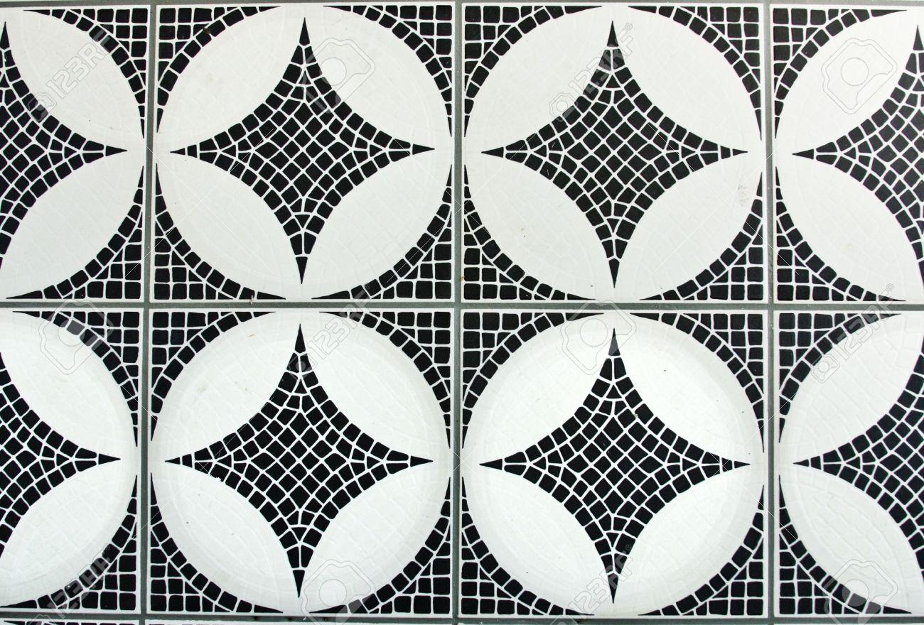 black and white mosaic background